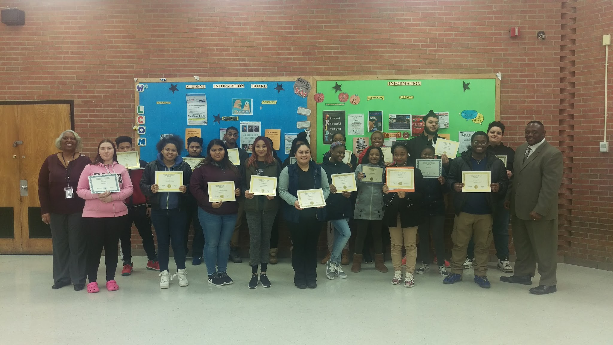 CEHS 1st Quarter Honor Roll & Attendance Recipients